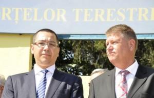 Klaus Iohannis şi Victor Ponta, împreună la bilanţul MApN