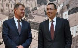 Întâlnire între Klaus Iohannis și Victor Ponta la Cotroceni