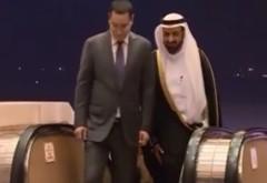 VICTOR PONTA, turneu în Golf. Cum a fost primit premierul în Arabia Saudită VIDEO