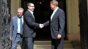Klaus Iohannis si Victor Ponta urmeaza sa discute miercuri despre noii ambasadori