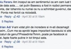 """Răzmeriță pe pagina de facebook a lui Iohannis: """"Tara nu se conduce pe net!"""""""