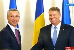 Secretarul general al NATO, în vizită oficială în România. Iohannis: România va fi un puternic furnizor de securitate