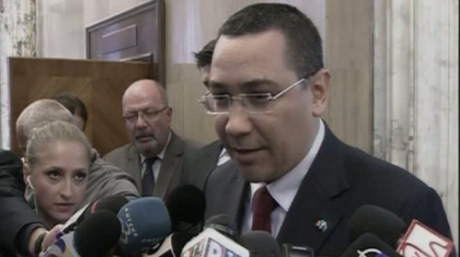Ponta, despre o demisie din fruntea Guvernului: Doar dacă există un acord semnat cu Iohannis