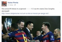 Ponta, ironie maxima dupa ce a fost ignorat de Messi