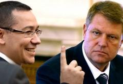Ce au discutat Ponta şi Iohannis la Cotroceni