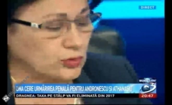 Ecaterina Andronescu a IZBUCNIT în LACRIMI la Antena 3: Să mă împuște în piața publică