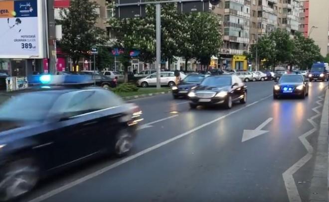 Klaus Iohannis, incident în traficul din Bucureşti