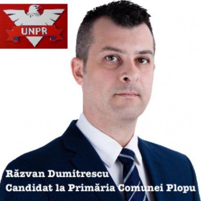 Interviu cu Razvan Dumitrescu (UNPR), candidat la Primaria comunei Plopu
