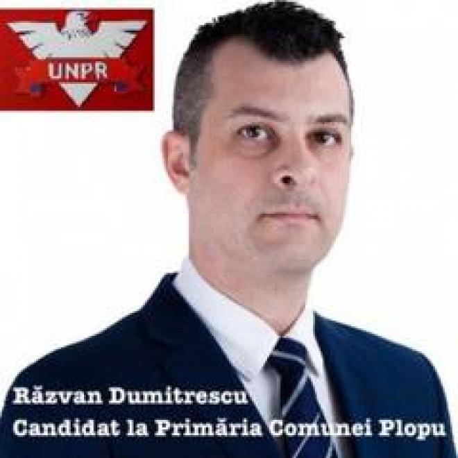"Razvan Dumitrescu (UNPR), un ""suflu nou"" pentru comuna Plopu"