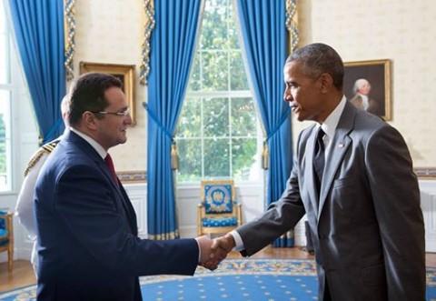 Ambasadorul George Maior, întâlnire cu preşedintele SUA, Barack Obama