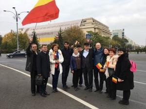 """Mircea Cosma a participat la marşul """"Luptă pentru Basarabia"""", organizat în Piaţa Victoriei"""
