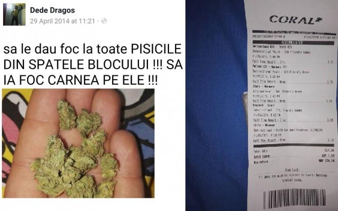 Revoltator! Cine este sustinatorul PNL Prahova care vrea sa dea foc tuturor pisicilor si se lauda cu droguri, pe Facebook