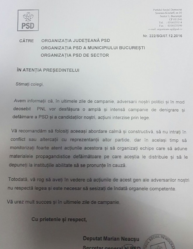 "PSD avertizeaza: ""Avem informatii ca PNL va incepe o campanie ILEGALA de denigrare a PSD"""