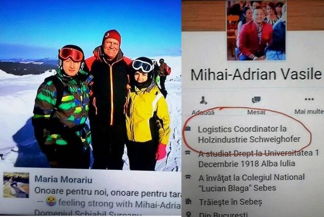 Iohannis se relaxeaza la ski, in zi de lucru, alaturi de angajati ai Holzindustrie-compania care ne taie padurile