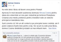 """Adrian Dobre vrea sa colaboreze cu Mircea Cosma: """"Apreciez în mod deosebit susținerea domnului Mircea Cosma"""""""