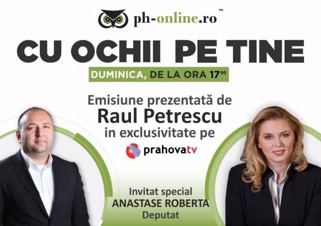 "Roberta Anastase, invitata in emisiunea ""Cu ochii pe tine"", duminica, la Prahova TV     (Politica)"
