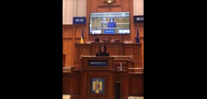 Deputatul PMP Catalina Bozianu, declaratie politica in Parlamentul Romaniei