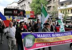 Homosexualii vs. Constitutia. Mars pentru sustinerea familiei traditionale, in Piata Victoriei