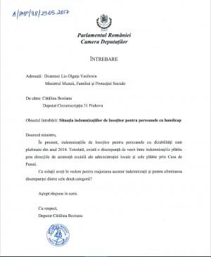 """Deputat Catalina Bozianu (PMP) -  """"Situația indemnizațiilor de însoțitor pentru persoanele cu handicap"""""""