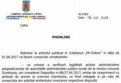 """Prefectura Prahova: """"Numirea secretarului Primariei Dumbrava in persoana Rodicai Iordache este ILEGALA"""""""