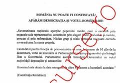 """Textul moţiunii de cenzură împotriva Guvernului Grindeanu: """"România nu poate fi confiscată! Apărăm democraţia şi votul românilor!""""."""
