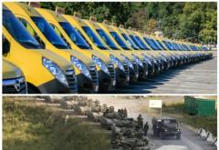 Rusia se ia la întrecere cu România în a demonstra cine ajută mai mult Moldova! România ne-a donat 96 de microbuze, Rusia trimite 96 de tancuri!