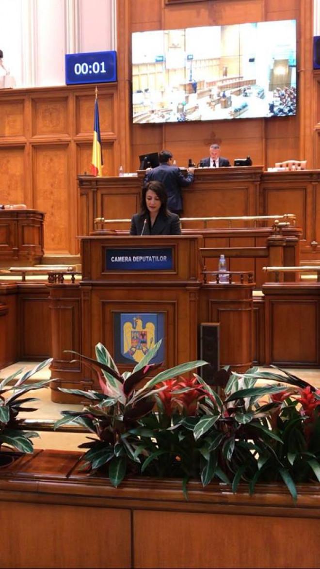 """Deputat Catalina Bozianu (PMP) -  """"Astăzi am vorbit despre politicienii care încearcă să câștige capital de imagine prin inducerea panicii"""""""