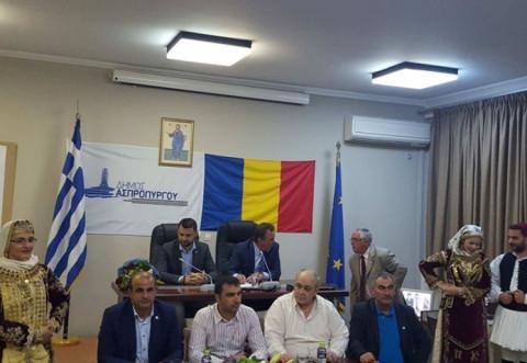Delegaţie condusă de primarul Adrian Dobre, vizita de lucru in Grecia