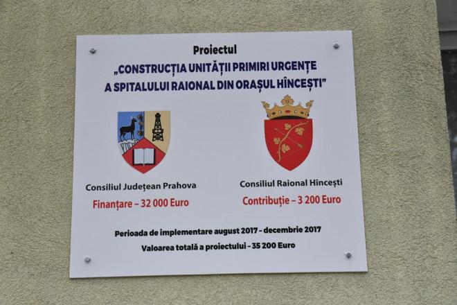 Ludmila Sfirloaga a vizitat Spitalul Raional Hincesti, investitie finantata de CJ Prahova