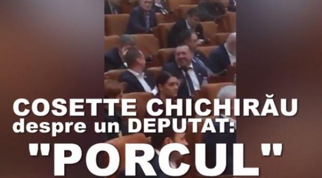 """Limbaj de doamna! Cosette Chichirău, despre Cătălin Rădulescu: """"S-a îngrășat. A mai furat ceva. Râde ca porcul"""" - VIDEO"""