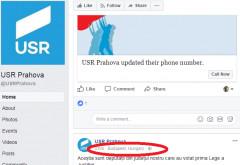 """USR-istii s-au dat de gol pe Facebook! """"Desteptii"""" de la Prahova au scapat """"porumbelul"""" pe Facebook!"""