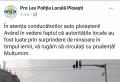 Poliția Locală Ploiești face mișto de primarul Adrian Dobre. FOTO