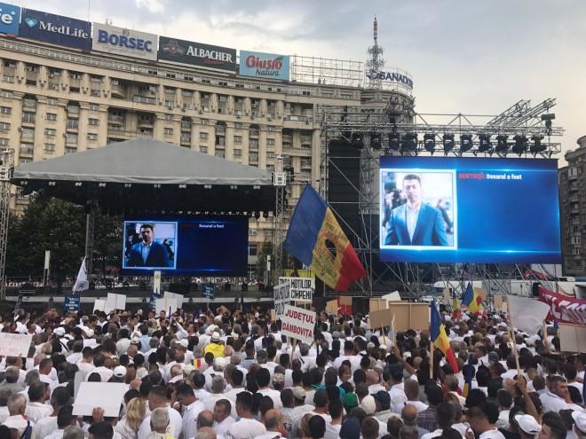 Cazul lui Vlad Cosma, prezentat ca exemplu de abuz al DNA, la mitingul PSD