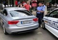 Șoferul mașinii cu numere M..E PSD a rămas fără permis și fără plăcuțe de înmatriculare