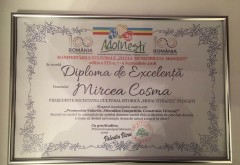 Mircea Cosma a primit Diploma de Exelenta din partea Primariei Moinesti