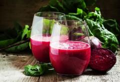Sucul de sfeclă roşie ajută la prevenirea cancerului. O sursă execelentă de minerale, vitamine, fibre şi antioxidanţi