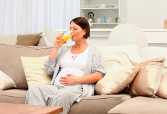 Femeile care beau sucuri în timpul sarcinii ar putea avea copii astmatici