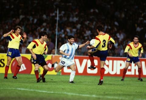 România l-a înfruntat de două ori pe Maradona
