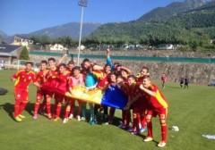 Naționala de fotbal U17 a României s-a calificat la Turul de Elită