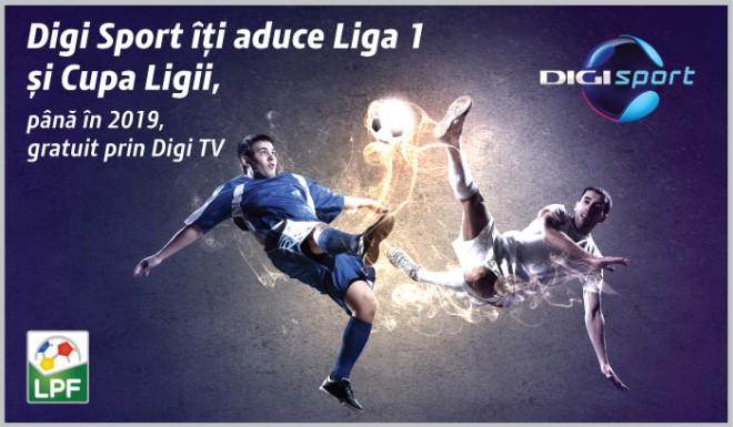 Liga 1 şi Cupa Ligii se văd gratuit în reţeaua RCS & RDS, la Digi Sport