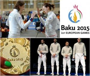 Echipa României de spadă a câştigat medalia de AUR la Jocurile Europene de la Baku