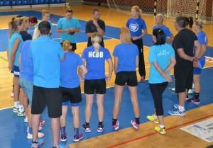 Viceprimarul Cristian Ganea s-a întâlnit cu echipa de handbal feminin