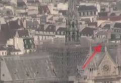 VIDEO Un punct luminos pe schelele de la Notre-Dame înainte de incendiu?