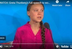"""Greta Thunberg, cu lacrimi în ochi, răzvrătită împotriva liderilor lumii la summitul ONU pentru climă: """"Cum îndrăzniți?!"""""""