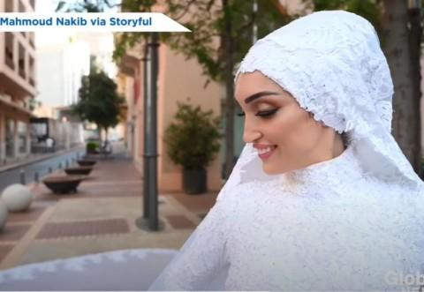 Făcea poze pentru nuntă când a avut loc explozia. Imagini incredibile din Beirut