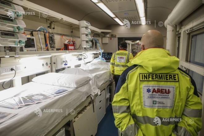 Fenomenal! Italienii au TREN cu 8 vagoane de Terapie Intensivă, care poate circula prin toata Europa