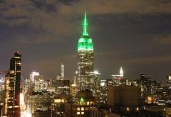 Spectaculos. Empire State Building luminat în verde