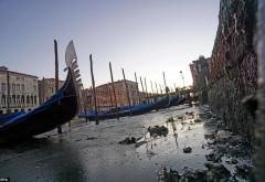Canalele din Veneția au secat. Cum arată orașul acum
