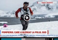 Toata stima! Pompierul român care a alergat 250 km la Polul Sud, la -60 de grade Celsius, pentru o cauză nobilă
