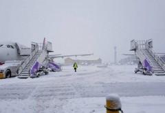 Un aeroport a fost ÎNCHIS, din cauza zăpezii: Niciun avion nu mai poate decola sau ateriza
